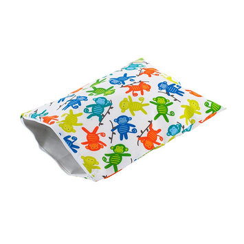Itzy Ritzy Travel Happens Large Sealed Wet Bag - Monkey Mania