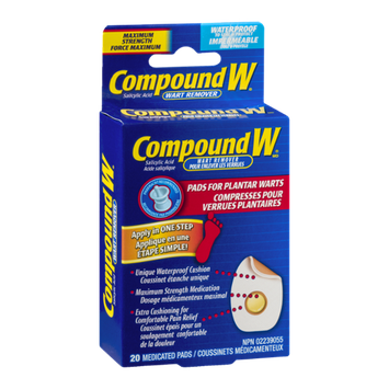 Compound W Wart Remover Medicated Pads - 20 CT