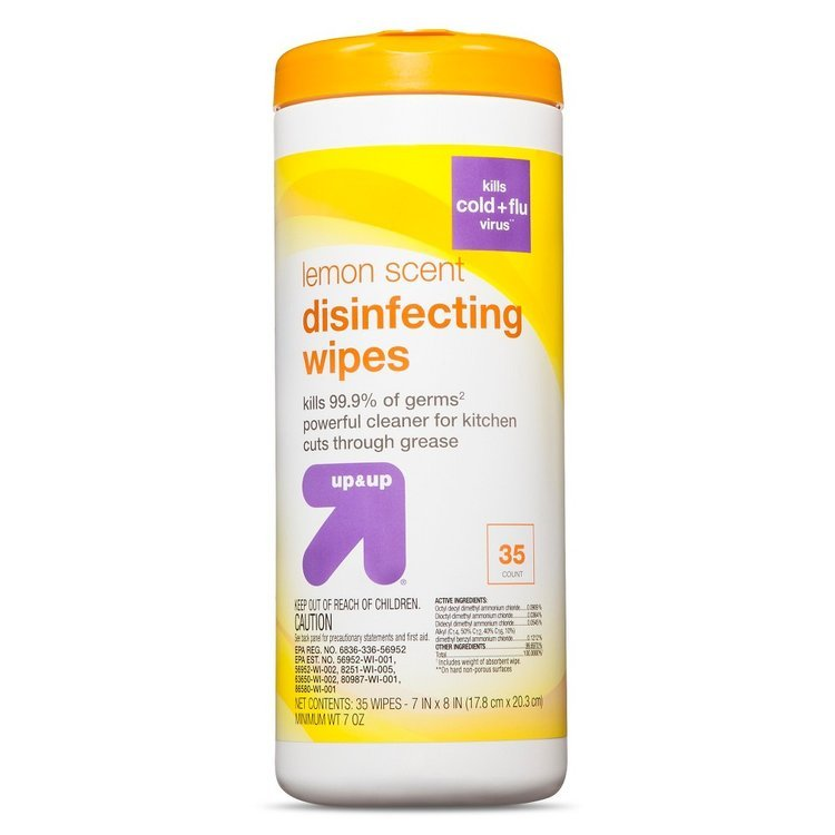 up & up Disinfecting Wipes - Lemon Scent - 35 ct