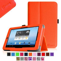 Fintie Folio Leather Case Cover For E FUN Nextbook Premium 7HD NX007HD8G Tablet, Orange