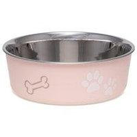 Loving Pets Bella Pet Bowl, Merlot, Large