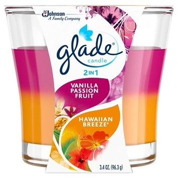 Glade Hawaiian Breeze & Vanilla Passion Fruit 2in1 Candle