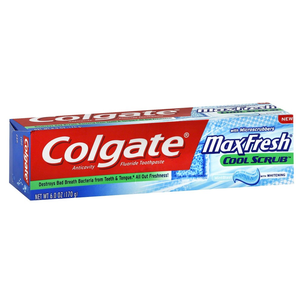 Colgate Max Fresh Cool Scrub Toothpaste 6oz