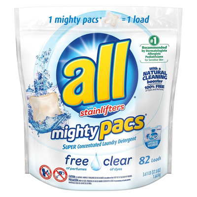 All Free & Clear Super Concentrated Laundry Detergent Pacs 82 ct