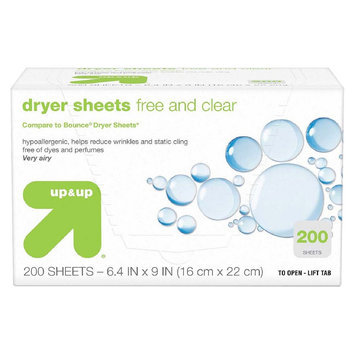 up & up Dryer Sheets - Free & Clear - 200 ct