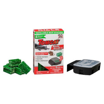 TomCat Mouse Killer Refillable Bait Station 4 ct