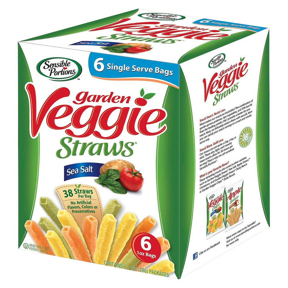 Sensible Portions Garden Veggie Straws Sea Salt 6 ct