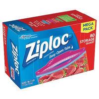 Ziploc Storage Quart Bags 84 ct