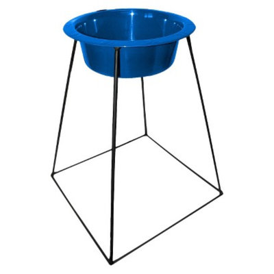 Platinum Pets Pyramid Single Feeder with One Stainless Steel Wide