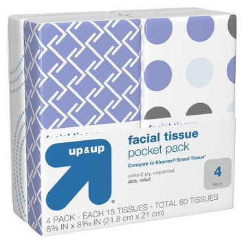 up & up Pocket Pack Facial Tissue 4 pk 15 ct each