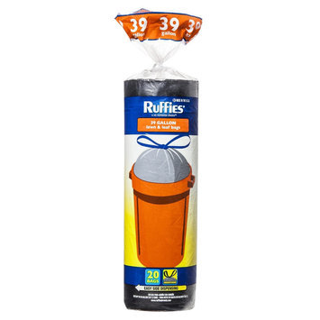 Ruffies Trash Bags 39 gal 20 ct