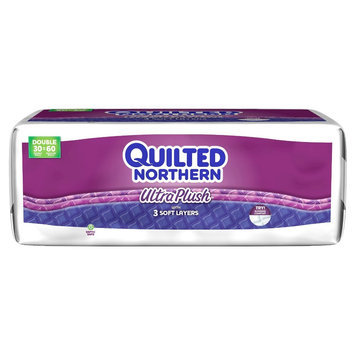 Quilted Northern Ultra Plush 3 ply Toilet Paper 30 Double Rolls