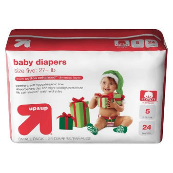 up&up™ cotton enhanced™ baby diapers size 5
