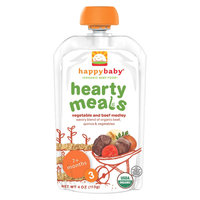 Happy Baby Stage 3 Hearty Meals Vegetable & Beef Medley Organic Baby Food - 4 oz