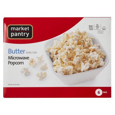 Market Pantry Butter Microwave Popcorn 6 pk