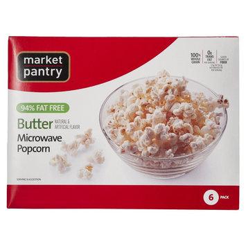 Market Pantry 94% Fat Free, Butter Microwave Popcorn 6 pk