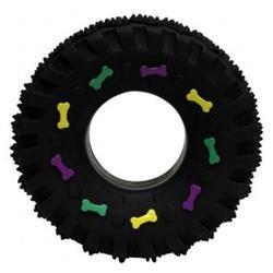 Ethical Pet Products (Spot) Spotbites Tough Tire, Vinyl Dog Toy, 3.5-inch, 1 each