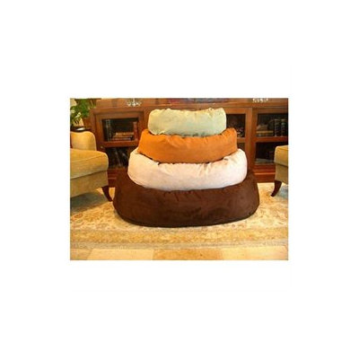 Majesticpet Majestic Pet 40in Bagel Dog Pet Bed Suede Chocolate