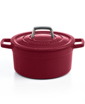 Martha Stewart Collection Collector's Enameled Cast Iron Round Casserole, 3 Qt.