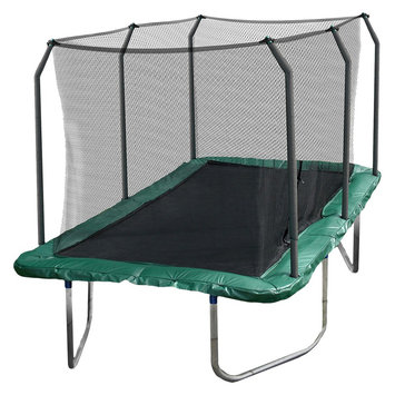 Skywalker Trampoline Skywalker Rectangle Trampoline with Enclosure - Green (14')