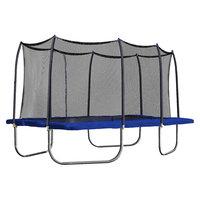 Skywalker Trampolines 15' Rectangle Trampoline with Enclosure - Blue