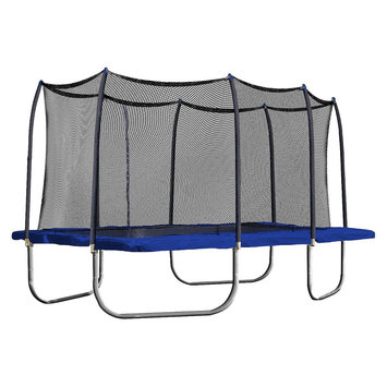 Skywalker Trampolines 15' Rectangle Trampoline with Enclosure - Blue