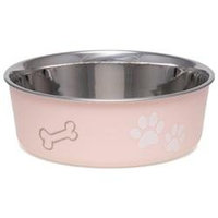 Loving Pets Bella Pet Bowl, Merlot, Medium