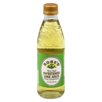Rose's West India Sweetened Lime Juice 12 oz