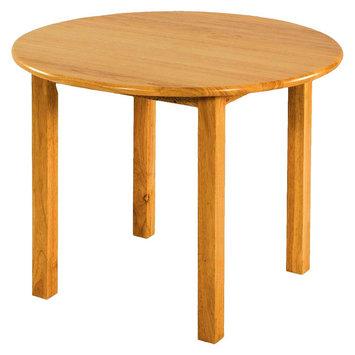 Ecr4kids 30 Round Hardwood Table with 18 Legs