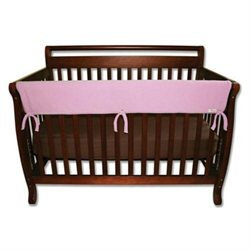 Trend Lab CribWrap Convertible Crib Long Rail Cover - Pink