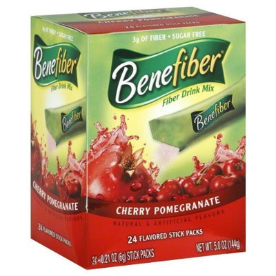Benefiber Fiber Drink Mix, Cherry Pomegranate, Stick Packs, 24 ea