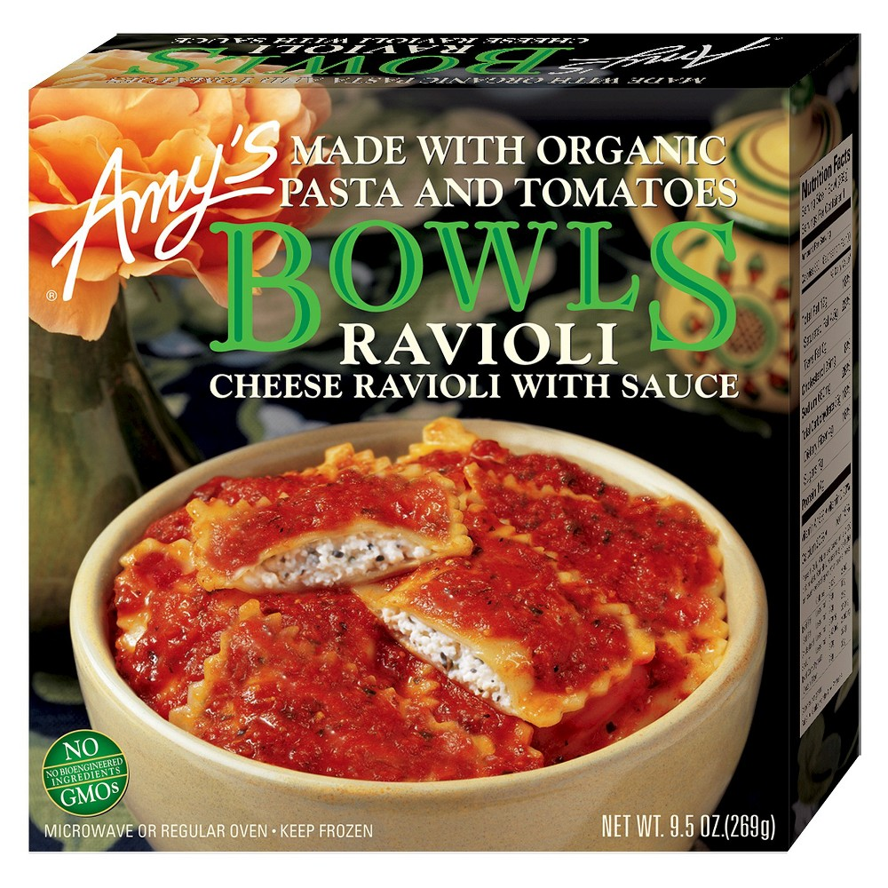 Amy's Kitchen Amy's Bowls Cheese Ravioli with Sauce 9.5 oz