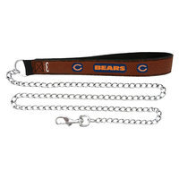 Gamewear Chicago Bears Football Leather 3.5mm Chain Leash - L