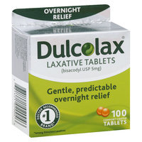 Dulcolax Gentle and Predictable Overnight Relief Laxative Tablets - 100 Count