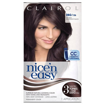Nice N Easy Clairol Nice 'n Easy Permanent Hair Color 2BG 126 Natural Mohogany Black 1 Kit