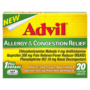 Advil Allergy and Congestion Relief Tablets - 20 Count