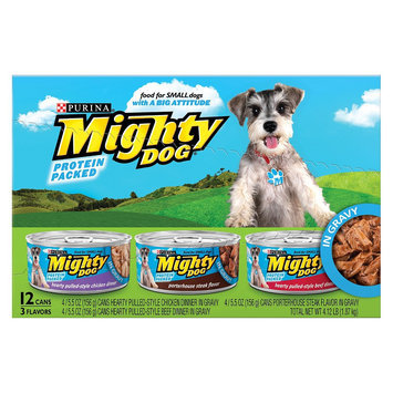 Nestlé Mighty Dog Protein Packed for Small Dogs Variety Wet Dog Food - 5.5
