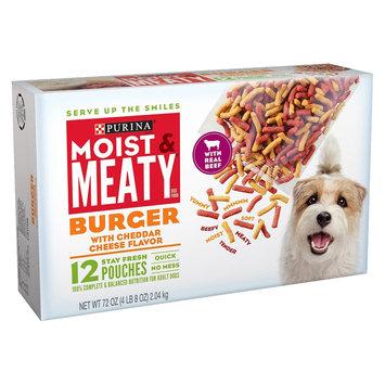 Nestlé Moist & Meaty Burger with Cheddar Cheese Flavor Dry Dog Food - 72 oz
