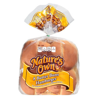 Nature's Own Butter Hamburger Buns 8 ct