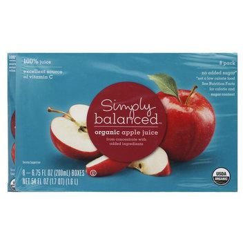 Hansen Beverages SIMPLY BALANCED JUICE BOX APPLE 6.75OZ 8PK