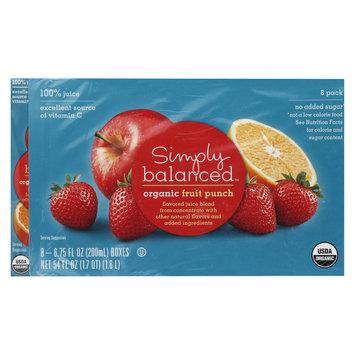 Hansen Beverages SIMPLY BALANCED JUICE BOX FRUIT PUNCH 6.75OZ 8PK