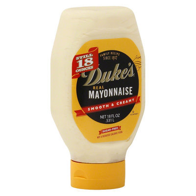Dukes Duke's Real Mayonnaise in a Squeeze Bottle, 18 oz, 12 pk