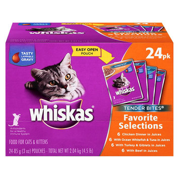 Whiskas Tender Bites Diced Variety Pack