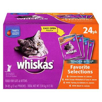 Whiskas Tender Bites Diced Variety Pack