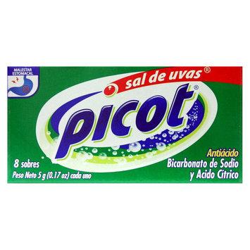 Sal De Uvas Picot Antacid, Sodium Bicarbonate & Citric Acid 8 Packets 0.17oz each - MEAD JOHNSON DE MEXICO, S.A. DE C.V.