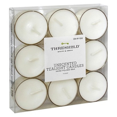 Threshold Unscented Tealight Candles White 9ct.