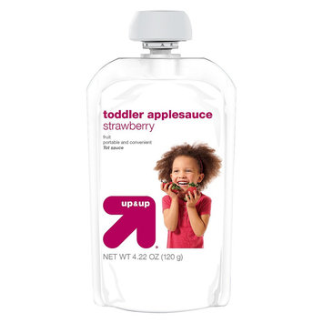 up & up Strawberry Toddler Applesauce - 4.22 oz