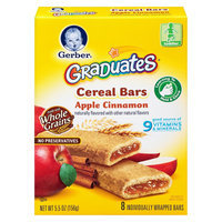 Gerber Graduates Cereal bars - Apple Cinnamon 5.5 oz 8 ct