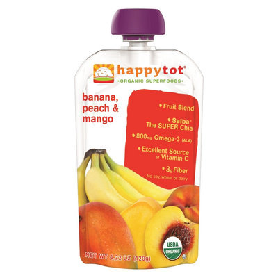 Happy Tot HappyTot Banana, Mango & Peach Organic Superfoods - 4.22 oz