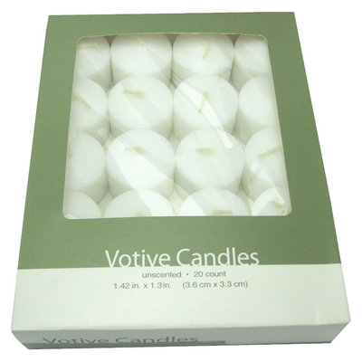Target Home 20 Count Votive Candles - White
